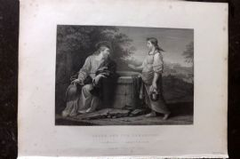 Gems of European Art 1846 Folio Print. Jesus and the Samaritan